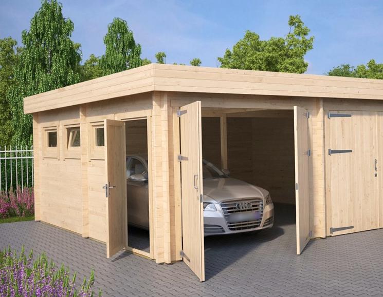 Хранение авто в деревянном гараже