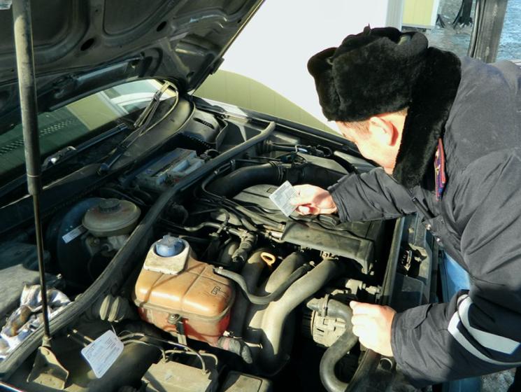 Поиск номера на контрактном двигателе