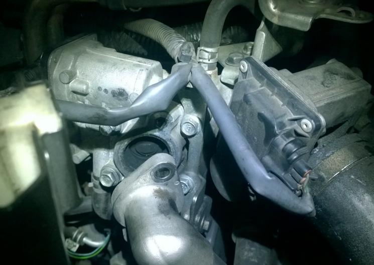 система ЕГР контрактного дизельного двигателя